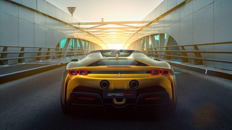 Ferrari SF90 Spider, 2021, 5K, 8K, Wallpaper