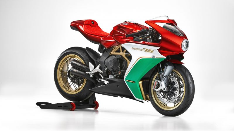 MV Agusta Superveloce 75 Anniversario, Limited edition, 2020, White background, 5K, Wallpaper