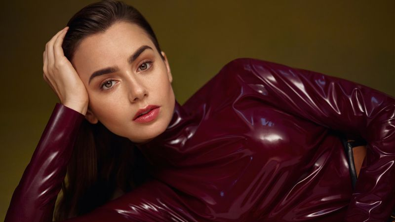 Lily Collins, American actress, 5K, Wallpaper