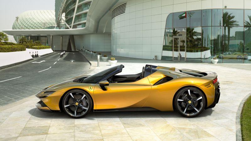 Ferrari SF90 Spider, 2021, 5K, Wallpaper
