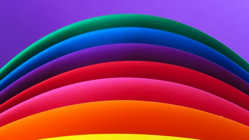 Artwork, Rainbow colors, Colorful background, Multicolor, Curves, Pattern, Texture, Sequence, Vibrant, 5K, Wallpaper