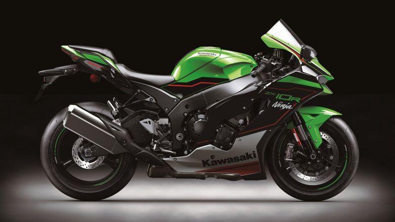 Kawasaki Ninja ZX-10R, Sports bikes, 2021, Wallpaper
