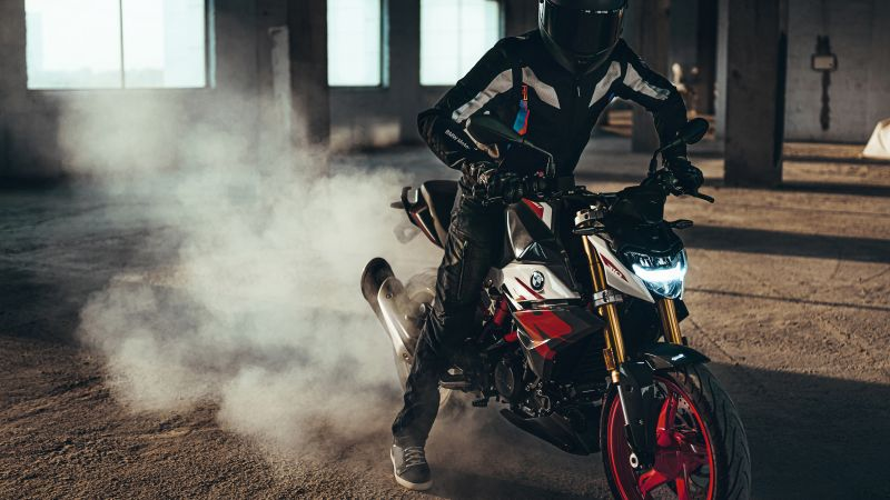 BMW G310R, Biker, Drift, 2021, Wallpaper