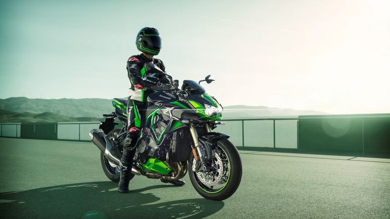 Kawasaki Z H2 SE, Biker, 2021, Sports bikes, Racing bikes, Wallpaper