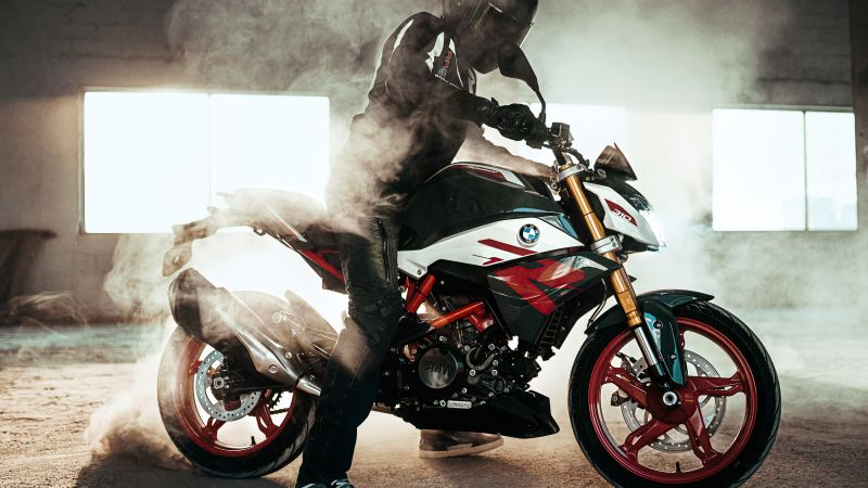 BMW G310R, Biker, Drift, 2021, Wallpaper