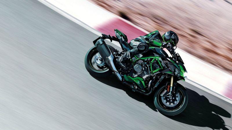 Kawasaki Z H2 SE, 2021, Sports bikes, Racing bikes, Race track, Wallpaper