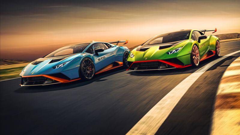 Lamborghini Huracán STO, 2021, 5K, Wallpaper