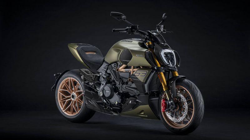 Ducati Diavel 1260 Lamborghini, Dark background, 2021, 5K, Wallpaper