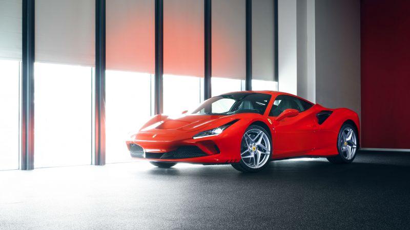 Ferrari F8 Tributo, Sports cars, Red cars, Wallpaper