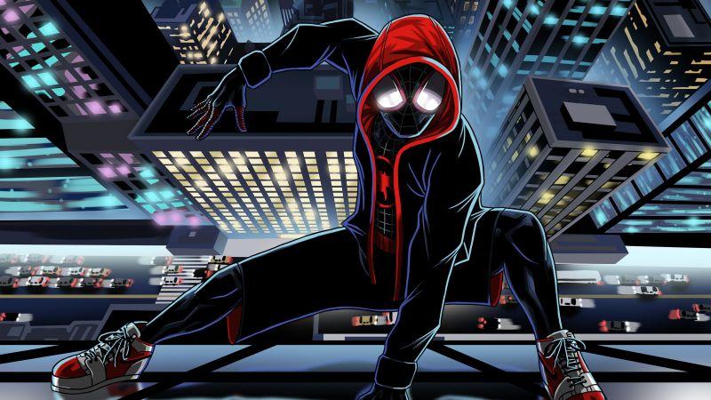 Miles Morales, Spider-Man, Spider-Verse, Illustration, Marvel Comics, Wallpaper