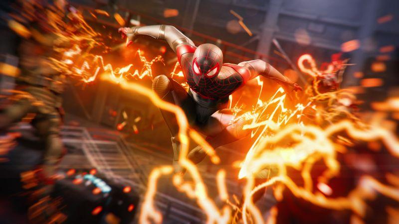 Marvel's Spider-Man: Miles Morales, Action, Gameplay, PlayStation 5, 2020 Games, Wallpaper