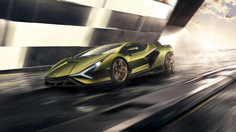 Lamborghini Sián FKP 37, Supercars, Sports cars, Hypercars, 5K, 8K, Wallpaper