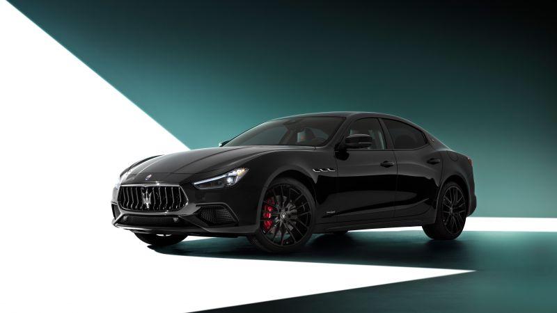 Maserati Ghibli S Q4 GranSport, Nerissimo Pack, 2021, 5K, 8K, Wallpaper