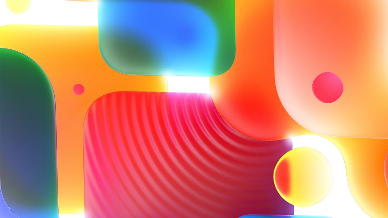 Shapes, Colorful, 3D, Gradients, Light, Glow, Aesthetic, Wallpaper