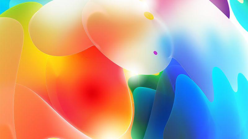 3D, Gradients, Colorful, Glow, Light, Wallpaper