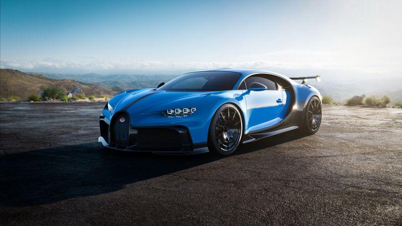 Bugatti Chiron Pur Sport, 2020, Wallpaper