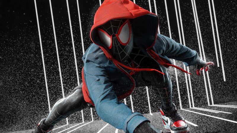 Miles Morales, Spider-Man, Spider-Verse, Marvel Superheroes, Wallpaper