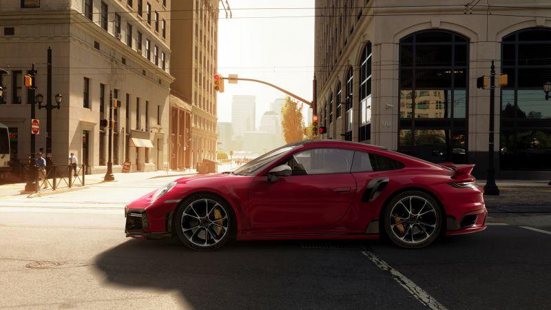 Porsche 911 Turbo S, TechArt, 2021, Wallpaper