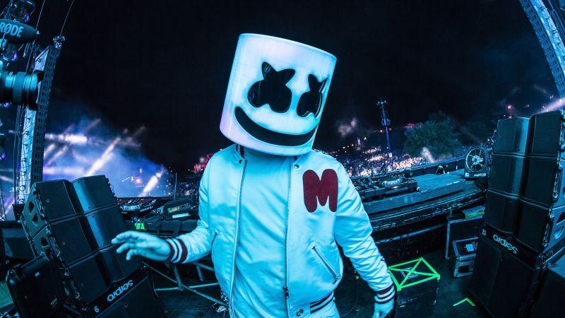 Marshmello, Live concert, American DJ, 5K, Wallpaper