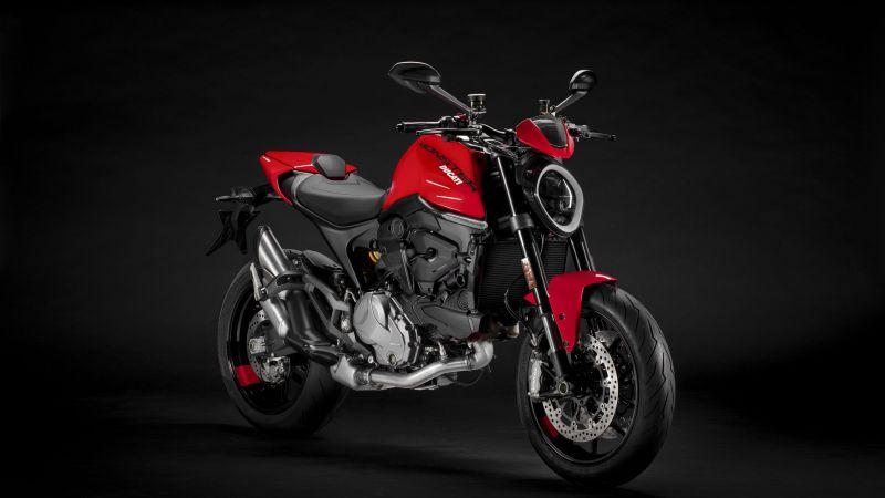 Ducati Monster, 2021, Dark background, 5K, Wallpaper