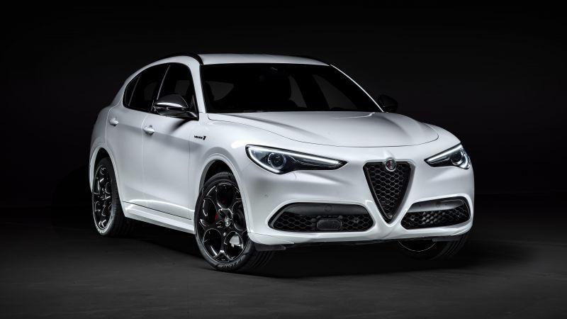Alfa Romeo Stelvio Veloce Ti, Dark background, 2020, 5K, 8K, Wallpaper