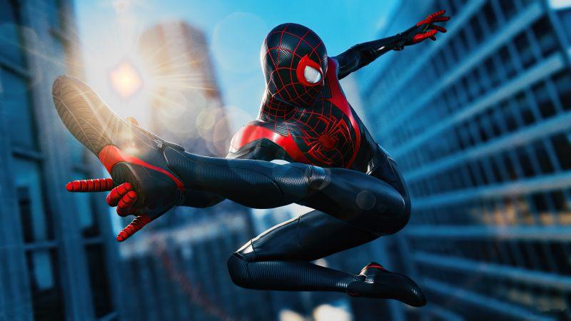 Marvel's Spider-Man: Miles Morales, Photo mode, PlayStation 5, 2020 Games, Wallpaper