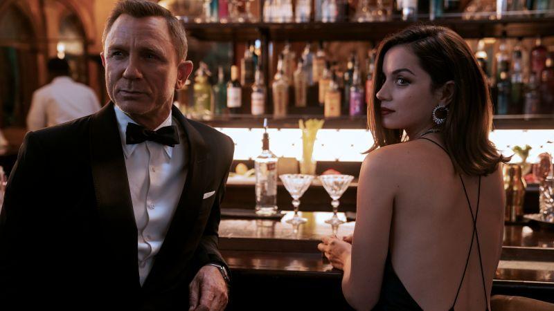 No Time to Die, Daniel Craig, Ana de Armas, 2021 Movies, Bond girl, 5K, Wallpaper