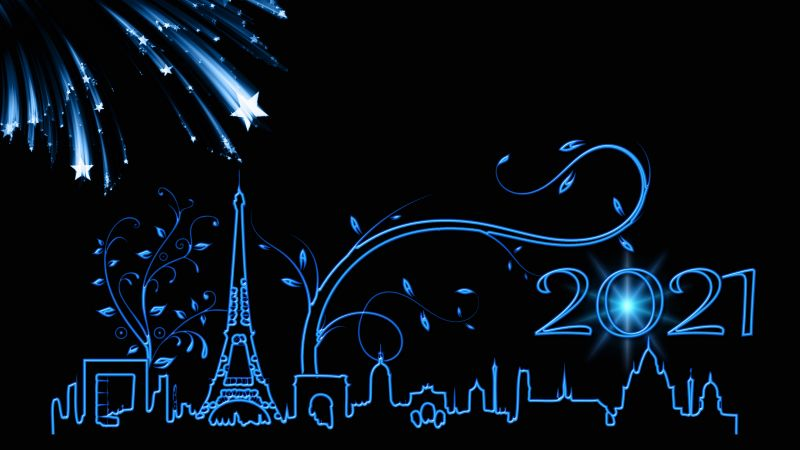 2021 New Year 4k Wallpaper New Year S Eve Paris Happy New Year Black Background Celebrations New Year 3645