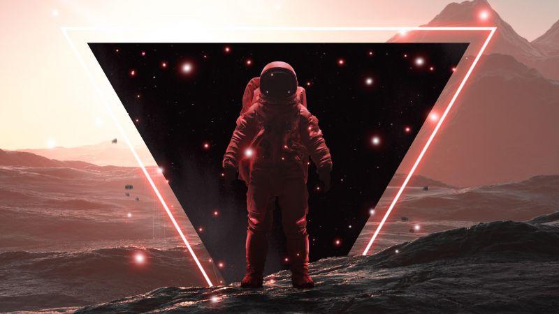 Astronaut, Void, Sc-Fi, Space suit, Space Adventure, 5K, Wallpaper