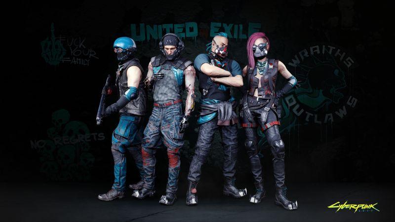 Cyberpunk 2077, Wraiths, Night City, Gangs, 2020 Games, Wallpaper