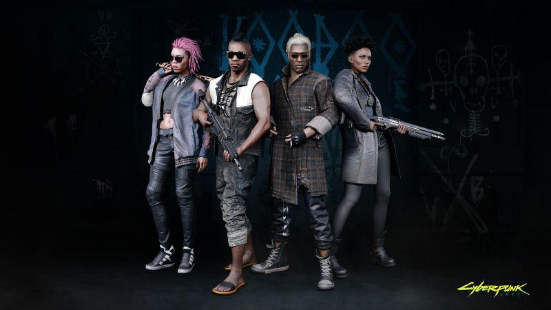 Cyberpunk 2077, The Voodoo Boys, Night City, Gangs, 2020 Games, Wallpaper