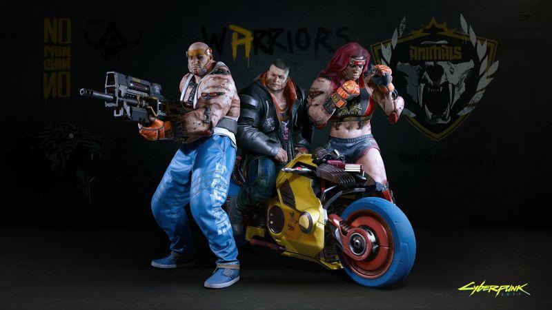 Cyberpunk 2077, The Animals, Night City, Gangs, 2020 Games, Wallpaper