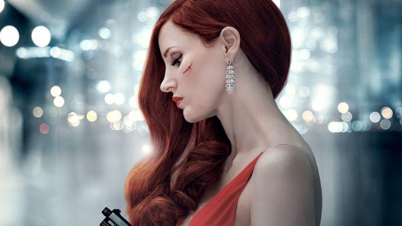 Ava, 2020 Movies, Jessica Chastain, Thriller, Wallpaper