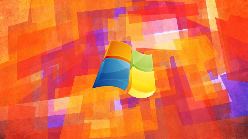 Windows logo, Windows XP, Colorful background, Abstract background, Wallpaper