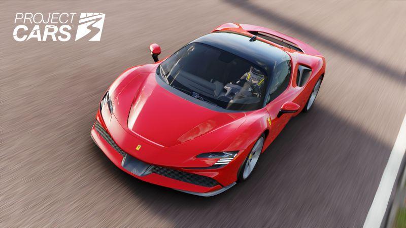 Project CARS 3, Ferrari SF90 Stradale, DLC, 2020 Games, Wallpaper