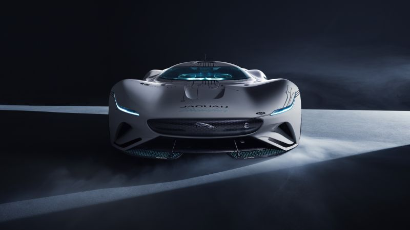 Jaguar Vision Gran Turismo SV, Hypercars, Concept cars, Dark background, 2021, 5K, Wallpaper
