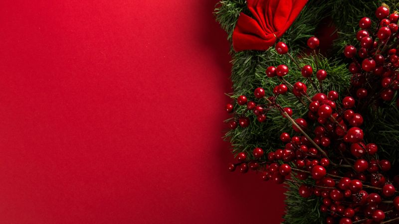 Christmas decoration, Christmas background, Red background, Merry Christmas, Wallpaper