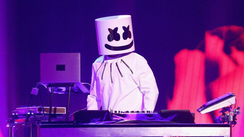 Marshmello, Live concert, American DJ, Wallpaper