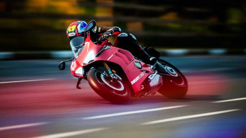 Ride 4, Ducati Panigale V4 R, PlayStation 4, Xbox One, PC Games, Xbox Series X and Series S, PlayStation 5, 2020 Games, 5K, Wallpaper