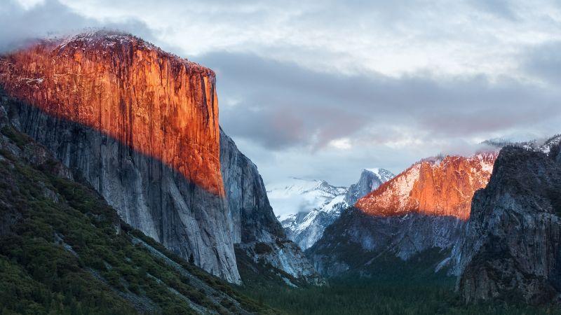 El Capitan, Yosemite National Park, Mountains, OS X El Capitan, Stock, 5K, Wallpaper