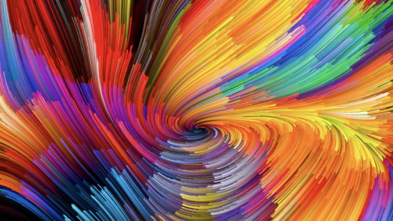 Chroma, macOS Mojave, Colorful, Spiral, Stock, 5K, Wallpaper