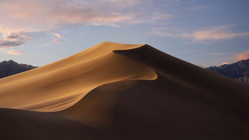 macOS Mojave, Sand Dunes, Mojave Desert, California, Day, 5K, Stock, Wallpaper