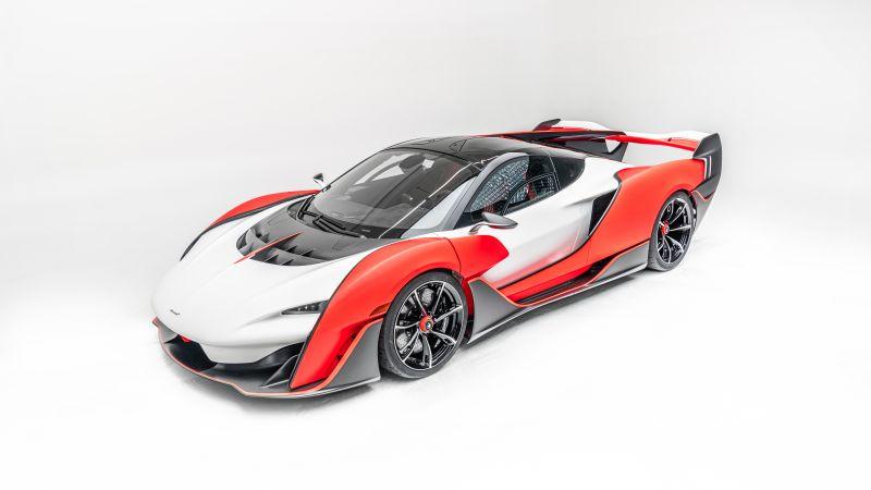 McLaren Sabre, MSO, White background, 2021, 5K, 8K, Wallpaper