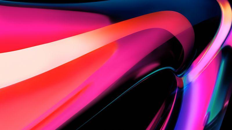 MacBook Pro, Apple M1, Multicolor, Pink, Glossy, Stock, 5K, Wallpaper