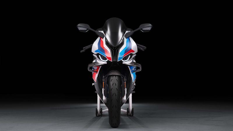 BMW M 1000 RR, Superbikes, Black background, 2021, 5K, Wallpaper