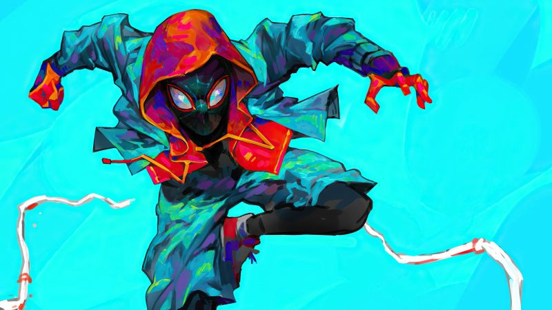 Miles Morales, Fan Art, Artwork, Marvel Superheroes, Wallpaper