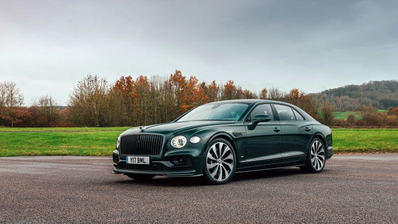 Bentley Flying Spur V8, 2021, 5K, Wallpaper