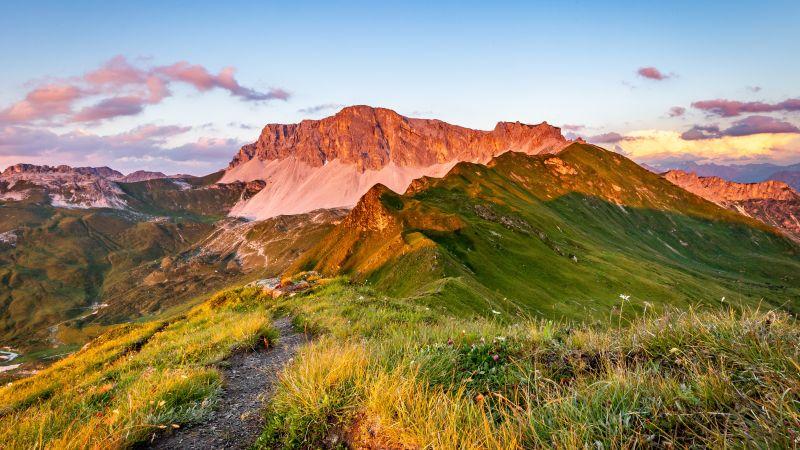 Jägglisch Horn, Switzerland, Mountain pass, Countryside, Outdoor, Plateau, Blue Sky, 5K, Wallpaper
