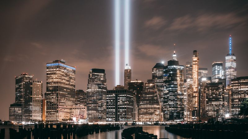 Brooklyn, Cityscape, Night, City lights, New York City, USA, Wallpaper