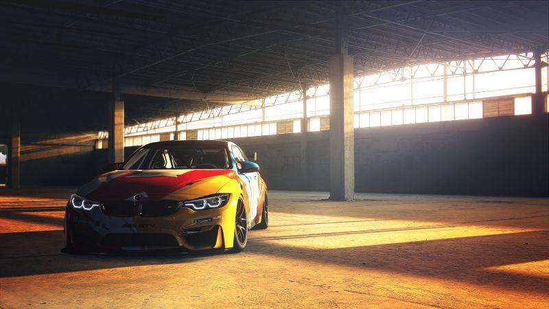 BMW M4 GT4, Sports cars, Wallpaper